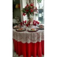 Toalha Redonda de Richelieu - Cobre-Mancha