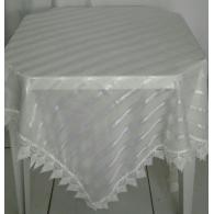 Toalha quadrada Voil Marfim com Guipir