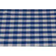 Toalha Quadrada Xadrez Azul