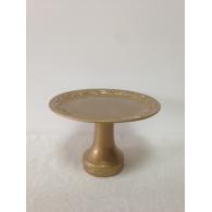 Boleira de Cerâmica Dourada Realeza Média